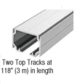 CRL CRL50CP2L 50 Series Two Panel Telescoping Ceiling Mount Kit - Left Stacking Direction