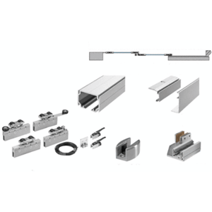 50 Series Two Panel Telescoping Ceiling Mount Kit - Right Stacking Direction