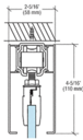 CRL CRL70C 70 Satin Anodized Series Single Sliding Door Ceiling Mount Kit
