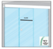CRL CRL702C 70 Satin Anodized Series Single Sliding Door with Two Fixed Panels Ceiling Mount Kit