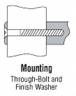 """CRL M1651028 1"""" Aluminum Solid Pull Handle - 10"""""""