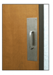 """CRL M8732D 3/4"""" Diameter Brushed Stainless 8"""" Pull Handle with 3-1/2"""" x 15"""" Pull Plate"""