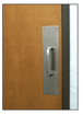 """CRL M6832D 3/4"""" Diameter Brushed Stainless 6"""" Pull Handle with 4"""" x 16"""" Pull Plate"""