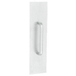 """3/4"""" Diameter Clear Anodized 8"""" Pull Handle with 3-1/2"""" x 15"""" Pull Plate"""