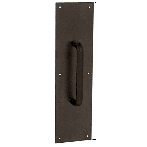 "CRL M8810B 3/4"" Diameter Oil Rubbed Bronze 8"" Pull Handle with 4"" x 16"" Pull Plate"