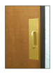 """CRL M683 3/4"""" Diameter Polished Brass 6"""" Pull Handle with 4"""" x 16"""" Pull Plate"""