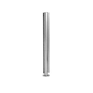 "Brushed Stainless 18"" x 1"" SBPP08 Slimline Series Round 135 Degree Partition Post"