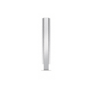 """Polished Stainless 18"""" High 1"""" Square PP47 Mini Plaza Series Partition Center Post With U-Channel"""