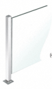 """CRL PP47CPS Polished Stainless 18"""" High 1"""" Square PP47 Mini Plaza Series Partition Center Post With U-Channel"""