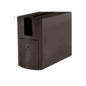 "Dark Bronze CR350 Series Square Door Rails 35-3/4"" (904 mm) Length - Without Lock"