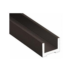 """Black Bronze Anodized Wet Glaze U-Channel for 1/2"""" (12 mm) Glass 120"""""""