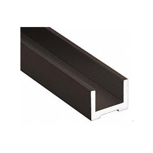 """Black Bronze Anodized Wet Glaze U-Channel for 1/2"""" (12 mm) Glass 240"""""""