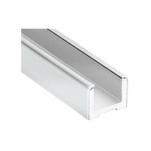 """Polished Stainless Wet Glaze U-Channel for 1/2"""" (12 mm) Glass 120"""""""