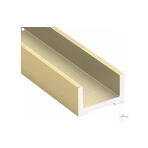 """Satin Brass Wet Glaze U-Channel for 3/4"""" (19 mm) Glass 120"""""""
