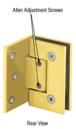 CRL GEN344BR Adjustable Polished Brass Wall Mount Offset Back Plate