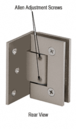 CRL GEN344BN Adjustable Brushed Nickel Wall Mount Offset Back Plate