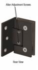 CRL GEN3440RB Adjustable Oil Rubbed Bronze Wall Mount Offset Back Plate