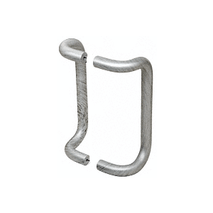 """10"""" Brushed Stainless Offset Pull Handles Back-to-Back"""