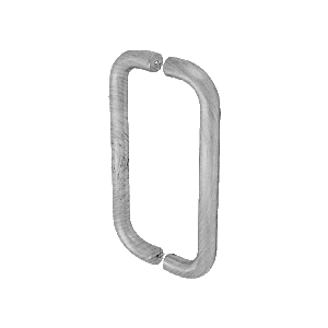 """8"""" Brushed Stainless Straight Back-to-Back Pull Handles"""