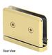 CRL PPH301BR Polished Brass Adjustable Prima Series Hinge