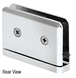 CRL PPH301CH Polished Chrome Adjustable Prima Series Hinge