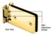 CRL GRA337BR Polished Brass Adjustable Standard Wall Mount Grande Series Hinge