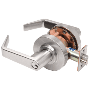 CRL D50ENTBN Brushed Nickel Heavy-Duty Grade 1 Lever Locksets Entrance - Schlage 6-Pin