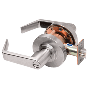 Brushed Nickel Privacy Heavy-Duty Grade 2 Lever Lockset