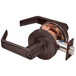 Heavy-Duty Oil Rubbed Bronze Grade 1 Lever Locksets Storeroom - Schlage 6-Pin