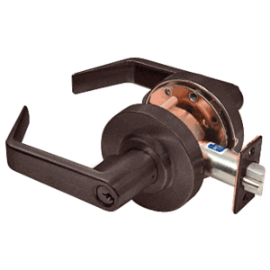 Oil Rubbed Bronze Heavy-Duty Grade 2 Lever Locksets Storeroom - Schlage 6-Pin