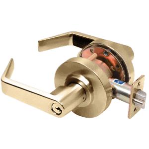 Heavy-Duty Polished Brass Grade 1 Lever Locksets Storeroom - Schlage 6-Pin