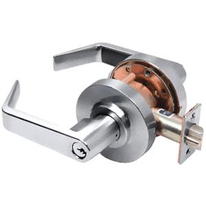 Polished Chrome Heavy-Duty Grade 2 Lever Locksets Storeroom - Schlage 6-Pin