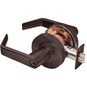 CRL D55ENT0RB Oil Rubbed Bronze Heavy-Duty Grade 2 Lever Locksets Entrance - Schlage 6-Pin