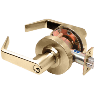 Polished Brass Heavy-Duty Grade 2 Lever Locksets Entrance - Schlage 6-Pin