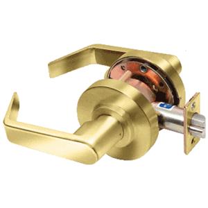 Polished Brass Passage Heavy-Duty Grade 1 Lever Lockset