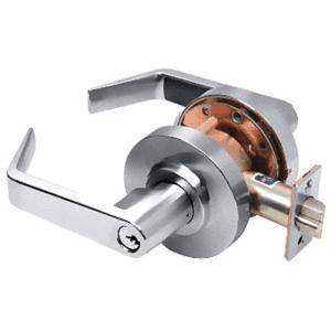 Polished Chrome Heavy-Duty Grade 1 Lever Locksets Entrance - Schlage 6-Pin