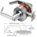 CRL D55ENTCH Polished Chrome Heavy-Duty Grade 2 Lever Locksets Entrance - Schlage 6-Pin