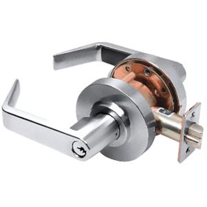Polished Chrome Heavy-Duty Grade 2 Lever Locksets Entrance - Schlage 6-Pin