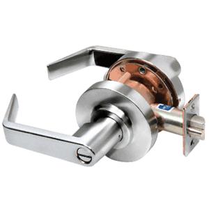 Polished Chrome Privacy Heavy-Duty Grade 1 Lever Lockset