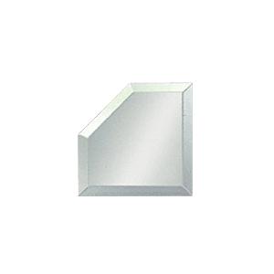 "CRL BM4M3 Clear Mirror Glass 3"" Mitered Corner Beveled on All 5 Sides"
