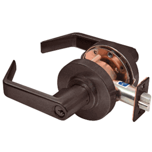 Oil Rubbed Bronze Heavy-Duty Grade 1 Lever Locksets Entrance - Schlage 6-Pin
