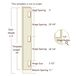 """Templaco 35368 6 Foot 8 Inch Full Length Template for Three 1/4"""" Radius 3-1/2"""" Hinges"""