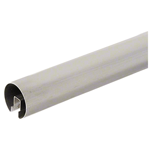 """316 Grade Brushed Stainless 3"""" Premium Cap Rail for 3/4"""" Glass - 120"""""""