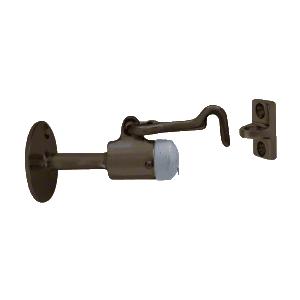 CRL DL2531DU Dark Bronze Wall Mounted Heavy-Duty Door Stop with Hook and Holder