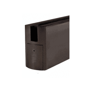 """3'-0"""" P-Style Black Bronze Anodized Single Door Only Kit - without Lock"""