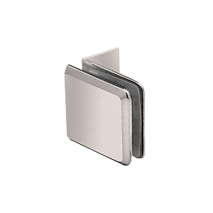 Brushed Nickel Fixed Panel Beveled Clamp With Small Leg