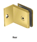 CRL BGC037BR Polished Brass Fixed Panel Beveled Clamp With Small Leg