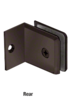 CRL BGC0370RB Oil Rubbed Bronze Fixed Panel Beveled Clamp With Small Leg