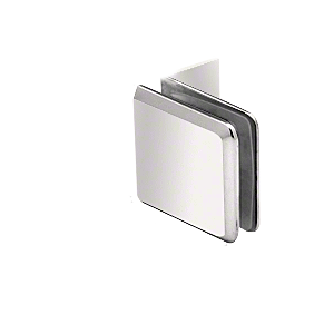 Polished Nickel Fixed Panel Beveled Clamp With Small Leg