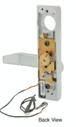 Jackson 9500EL02628 Electric Outside Lever Trim with Flat Style Lever Satin Aluminum Finish 24 Volt DC